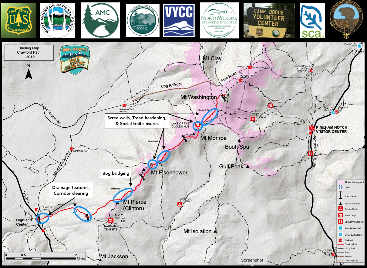 Crawford Path 2019 Partners & Projects Map
